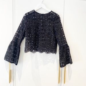 Gorgeous Lace Top with bell sleeves